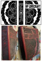 HP Lovecraft custom leather book cover by Chromarush