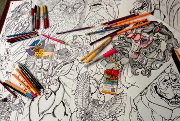 COLORING PAGES GALORE by paleWOLF