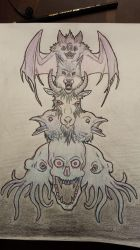 Gothic Totem Pole by MidKnightFapper
