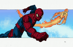 Spider Man and The Human Torch by IronWarrior777