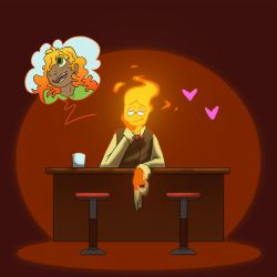 OoF -- Grillby's In Love by the3Ss