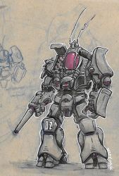 Battletech inspired : The griffin's cousin by Sebbythefreak