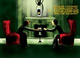 Outtakes III: GLaDOS 'n Matrix by lia-a-eastwood