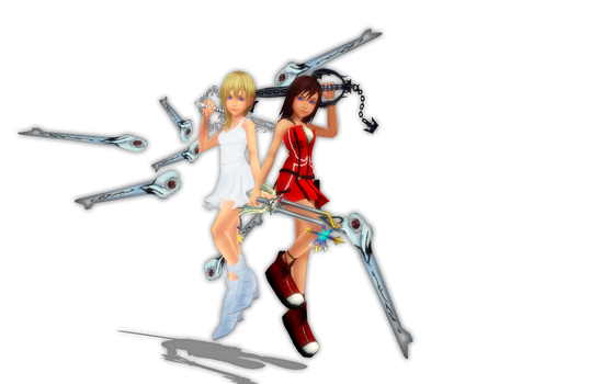 Dead Fantasy-Kairi and Namine by danit09182