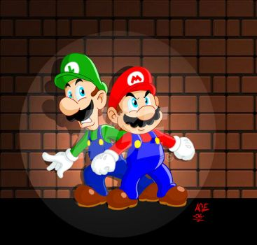 Super Mario Brothers by Age-Velez