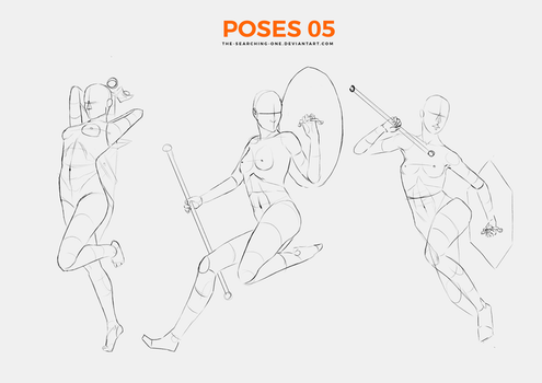 Poses 05 - Carrying Weapons by the-searching-one