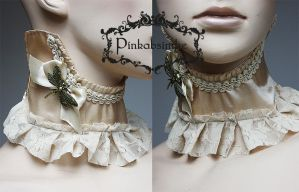 Ivory dragonfly collar by Pinkabsinthe