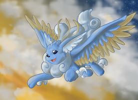Flying Eeveelution by faeore