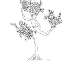 Spring Dryad inked by bookxworm89