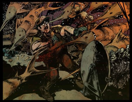 Empire Adrift_double spread internal pages_color by FrancescoIaquinta