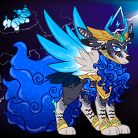Prince of Wind and Thunder PupPoppy Adopt (Sold) by HimeSara84