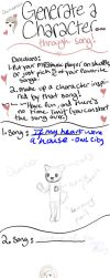 Song Character Generator Memeo by lucycupcake