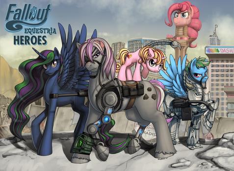 Fallout Equestria Heroes by Pinkuh