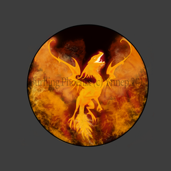 Burning Phoenix logo by Ynnep