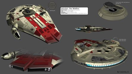 Star Wars YT-2600 Freighter - The 'Wildfire' by calamitySi