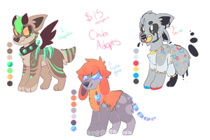 Chibi Set Price Feral Adopts *CLOSED* by FUDANSHl