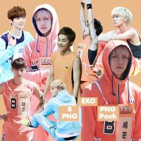 EXO's PNG Pack {Idol Star Athletics Championship} by kamjong-kai
