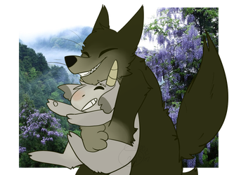 Gabu And Mei (Arashi No Yoru Ni) by BradSnoopy97