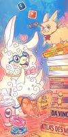 Al and Paca bookmark by Ponchounette