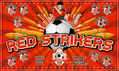 Banner-Red Strikers by DomNX