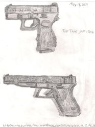 The Glock 17L and 26 by Thecommander236