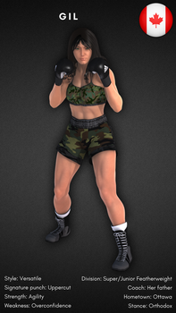 Fighter Card  Gil by alesiaboxing by Cid-Vicious