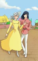 Howl's Moving Castle: Sophie and Howl. by SweetieFox