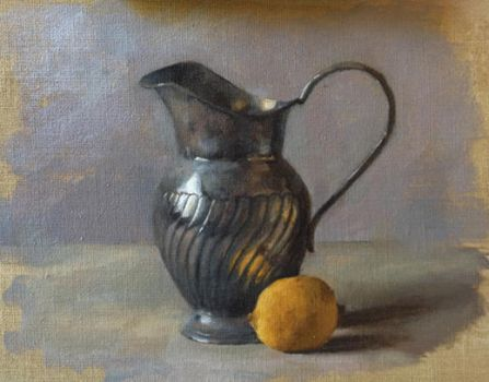Stillife with Jar and lemon by Teffy