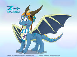 [OLD ART] Zephyr The Dragon for Kimbia28 by Sabre471