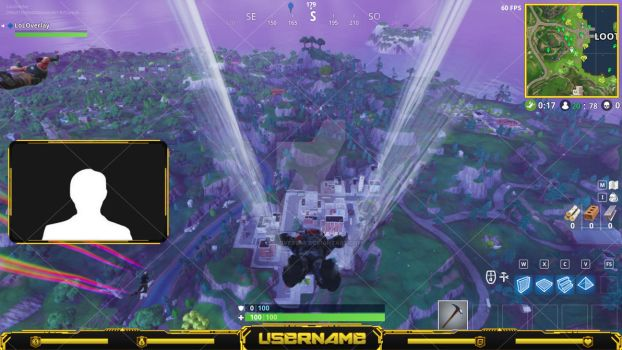 Fortnite #4 (Yellow x Black) - Stream Overlay by lol0verlay