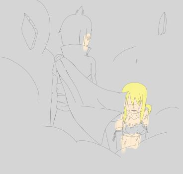 WIP - Zeref and Lucy by LavixKite