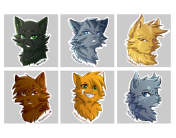 Warriors Stickers: 3 by RiverSpirit456