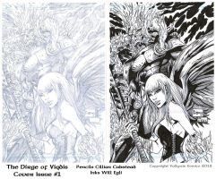 Dirage of Viqdis Cover A - Cubstead - Egli - Inks by SurfTiki