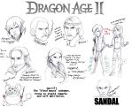 Dragon Age II Sketch Dump by lubyelfears