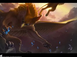 Griffin Wallpaper by WhiteRaven90