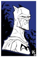 batman sketchcard by HEROBOY