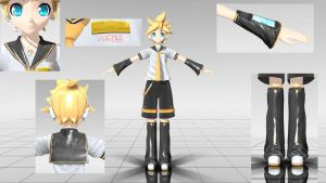 Realistic Dreamy Theater Kagamine Len ( MMD ) 40% by KagamineShotaLen