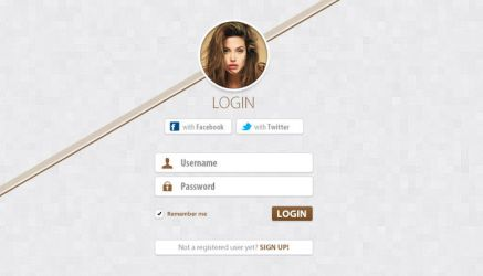 Simple Clean Login Free PSD by victorsosea