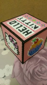 Hello kitty hama bead box  by EmmaLouise