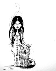 The Girl and the Dog by EmilieDionne