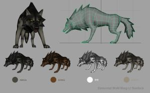 Elemental Warg by KayFedewa