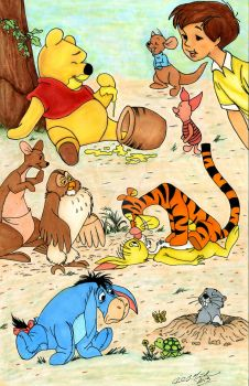 Winnie The Pooh and the rest of the gang. by PaulMichaels