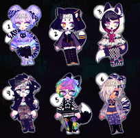 closed - Set Price Goth Cats by Kariosa-Adopts