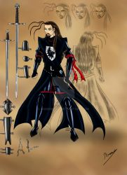 Planche personnage I : Chevalier noir by Sombreval