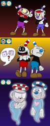 Cuphead and Mugman expressions by MetaLatias5