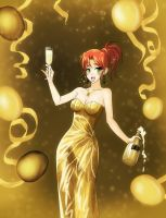 Golden New Year by opcrom