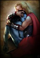 Thor and Jotun Loki by ladycataria