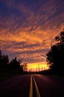 Sunset Road by matthewfoxxphotos