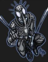 Spiderman Black Symbiote Costume Steampunk by jdmacleod