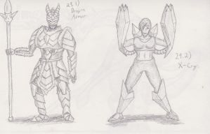 Figure 29 - Dragon Armor and X-Cry by TheHiddenElephant